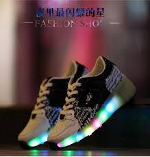 heelys light up shoes light heelys children breathable mesh black shoes sneakers with