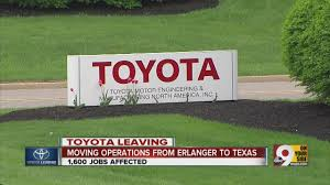 toyota motor corporation toyota motor corp to leave erlanger kentucky headquarters youtube