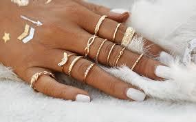 gold knuckle rings images Gold midi knuckle ring set joellesboutique jpg