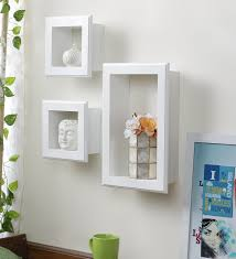 wall shelves pepperfry buy hometown white mdf cube wall shelf online contemporary wall