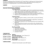 Resume For A Part Time Job by Professional Resume Sample For Applying Hotel Manager Or House