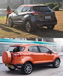 nissan kicks specification nissan kicks vs ford ecosport in images