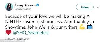 shameless star emmy rossum celebrates season nine renewal daily