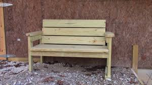 how to make a wooden garden bench easy homemade garden bench youtube