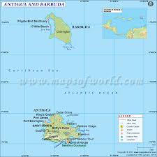 Map Showing Equator Where Is Antigua And Barbuda Location Of Antigua And Barbuda