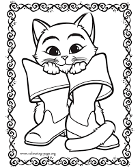 baby puss boots coloring pages printable coloring pages
