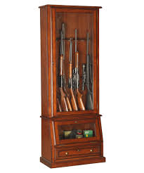 Security Cabinet American Furniture Classics 898 Wood 12 Gun Cabinet With Slanted
