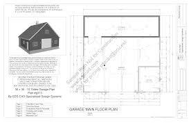 barn garage plans g314 36x36 10 barn plan blueprints construction drawings
