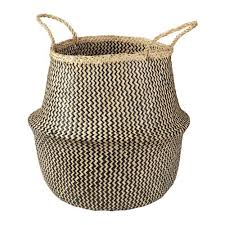 ikea baskets laundry basket ikea flådis basket seagrass black 14 5 8