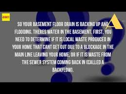 Basement Floor Drain Backing Up Why Is Sewage Backing Up Into Basement Youtube
