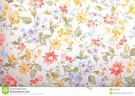 vintage provance wallpaper with floral pattern royalty free stock