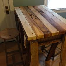 Kitchen Island With Wood Top by Kitchen Furniture Reclaimed Wood Kitchen Island Countertop Light