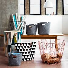 ferm living wire storage basket medium rose home decor