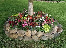 27 gorgeous and creative flower bed ideas to try rock flower