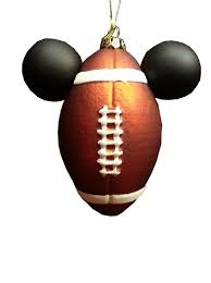 ornament mickey mouse ears football