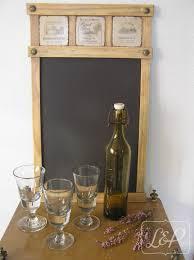 pense bete cuisine tableau décoratif en bois avec ardoise pense bête mémo