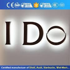 bureau inversé acier inoxydable lumière up lumineux affichage publicitaire rétro