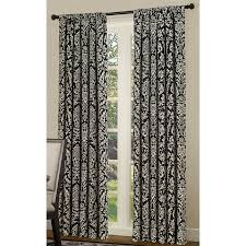 Black And Gold Damask Curtains by Black And White Curtain Panels Decoration And Curtain Ideas