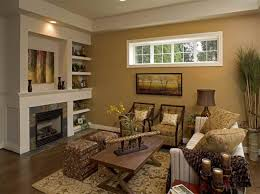living room with warm color scheme top home design