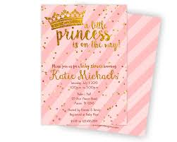 princess baby shower pink and gold princess baby shower invitation party print express