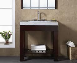 Xylem Vanities Indus 24 Inch Dark Walnut Modern Bathroom Vanity Solid Poplar