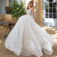 white wedding gowns a line v neck court white wedding dress with lace