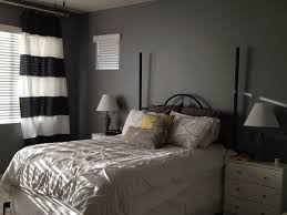 paint colors for small bedrooms with classy gray wall and white