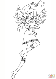 winx club indian fairy coloring page free printable coloring pages