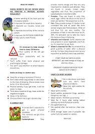 2 worksheet healthy habits 3