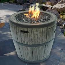wine barrel fire table 27 wine barrel 45 000 btu gas fire table cover costco uk