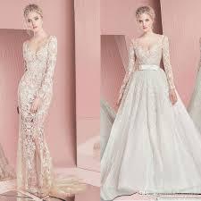 sequined wedding dress zuhair murad mermaid wedding dresses 2016 sheer scoop neck