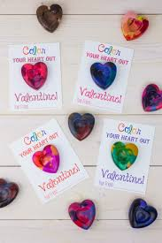 handmade valentine heart shaped crayons