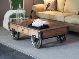 Image Of Inspirational Rustic Coffee Table With Wheels For Living