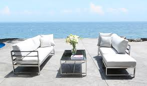 soho contemporary stainless steel patio furniture