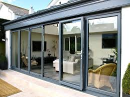 Patio Doors Bifold Minimalist Terrace Patio Style With 6 Panels Rectangle Bifold