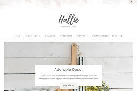 Home Decor Blogs Wordpress by The Hallie Feminine Wordpress Theme Wordpress Blog Themes