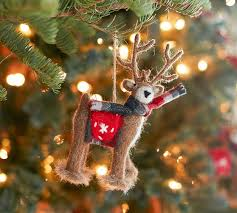 felt reindeer ornament pottery barn