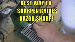 Best Way To Store Kitchen Knives Best Way To Sharpen Any Knife Razor Sharp Youtube