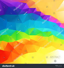 abstract 3d geometric colorful mosaic background stock vector