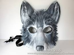 frank halloween mask leather grey wolf mask gray wolf animal mask fursona