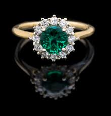 diamond cocktail rings 14kt chatham emerald diamond cocktail ring