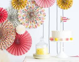 photo backdrop paper hanging party decor wedding backdrop paper fans pink and