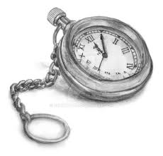 drawn pocket watch pencil drawing pencil and in color drawn