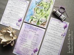santa barbara wedding custom wedding map california