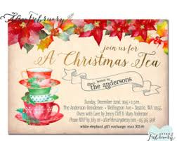 christmas tea party tea invitation christmas tea invitation tea party
