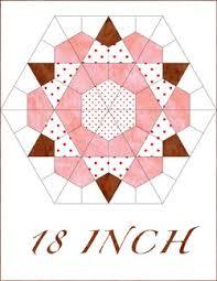 rose star 18 inch hex pinterest hexagon quilt hexagons and