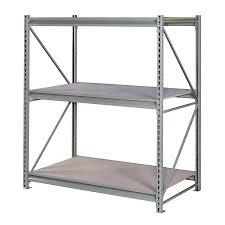 shop edsal 120 in h x 72 in w x 48 in d 3 tier steel freestanding