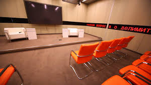 Small Conference Room Design Big Tv Screen In Small Conference Room In Ria Novosti Stock Video