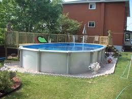 Backyard Above Ground Pool Ideas Ideas For Above Ground Pools Dragonswatch Us