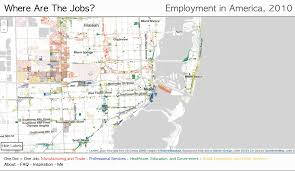 Map Of Northwest Us Interactive Map Shows The Location Of Most Jobs In The Us